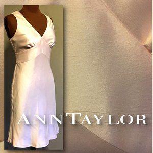 ANN TAYLOR Blush Pink Raw Silk Dress NWOT   |   4P